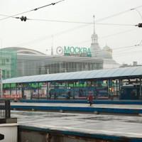 Moskau hat 9 Hauptbahnhöfe, wir kommen am Bahnhof Yaroslavsky an